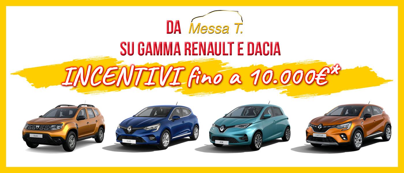 Incentivi fino a 10.000 sulla tua nuova auto | Concessionaria Messa T | Renault | Dacia