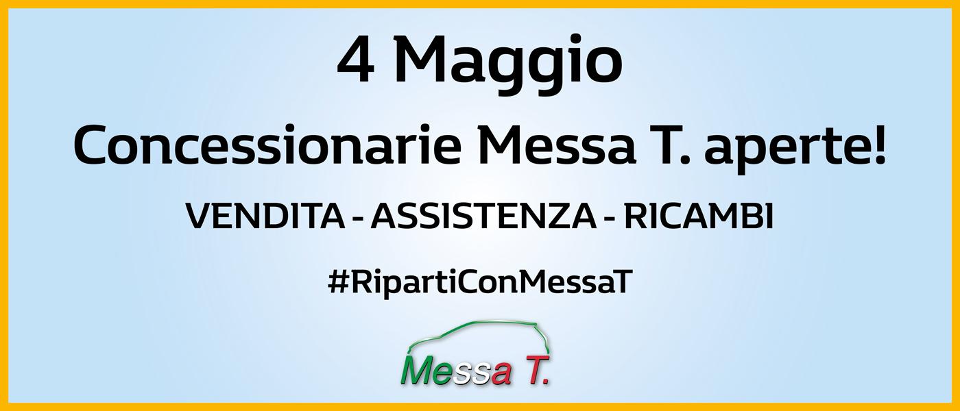 Riapertura post COVID-19 concessionaria Messa T