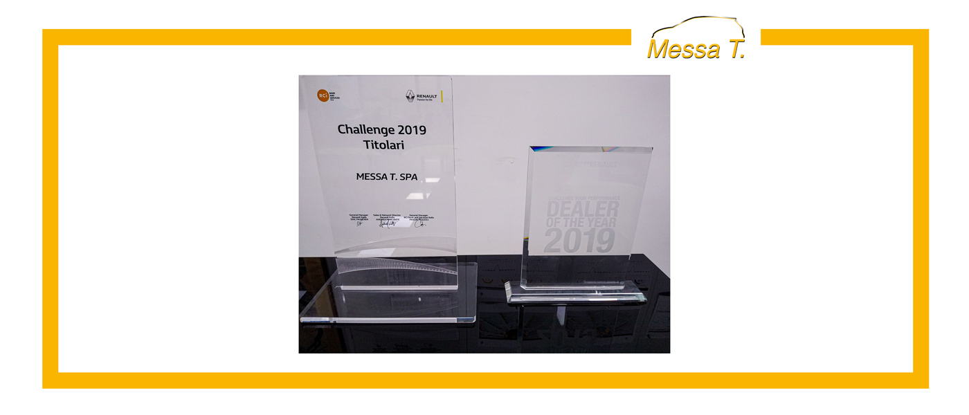 "Premio ""Dealer of the Year"" e ""Challenge titolari"" per la concessionaria Messa T."
