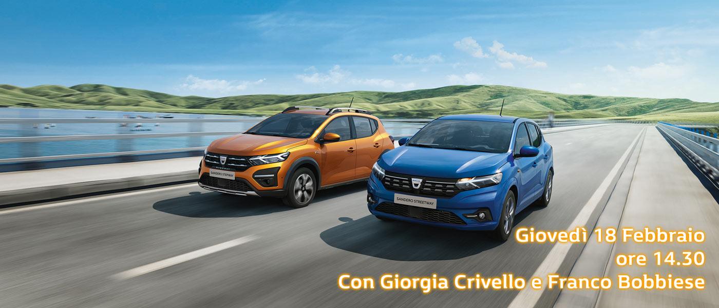 Nuova Gamma Dacia Sandero | Con Giorgia Crivello e Franco Bobbiese | Messa T. | Monza | Vimercate | Merate