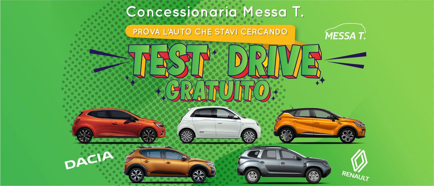 Test Drive veicoli Renault e Dacia | Monza | Vimercate | Merate | Concessionaria Messa T